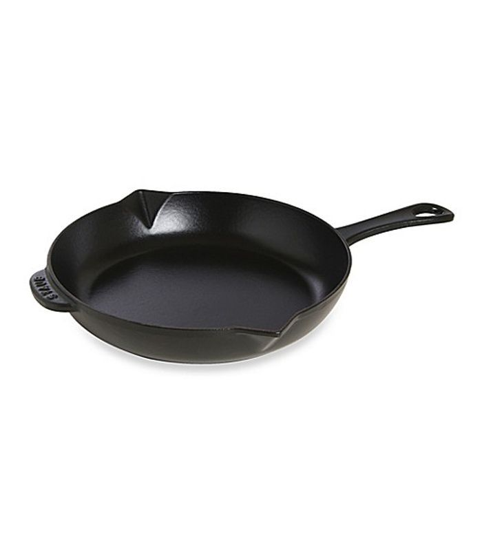 Stab cast iron pan