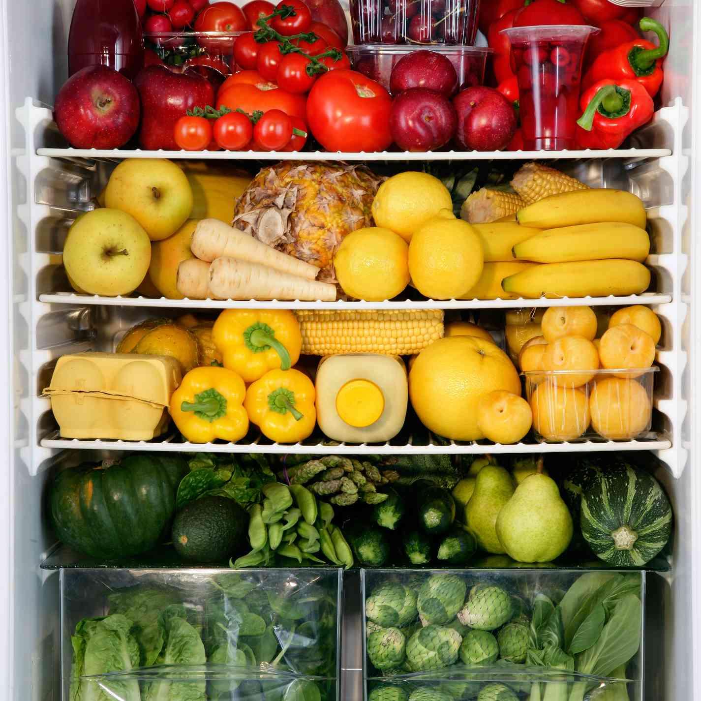 colorful refrigerator