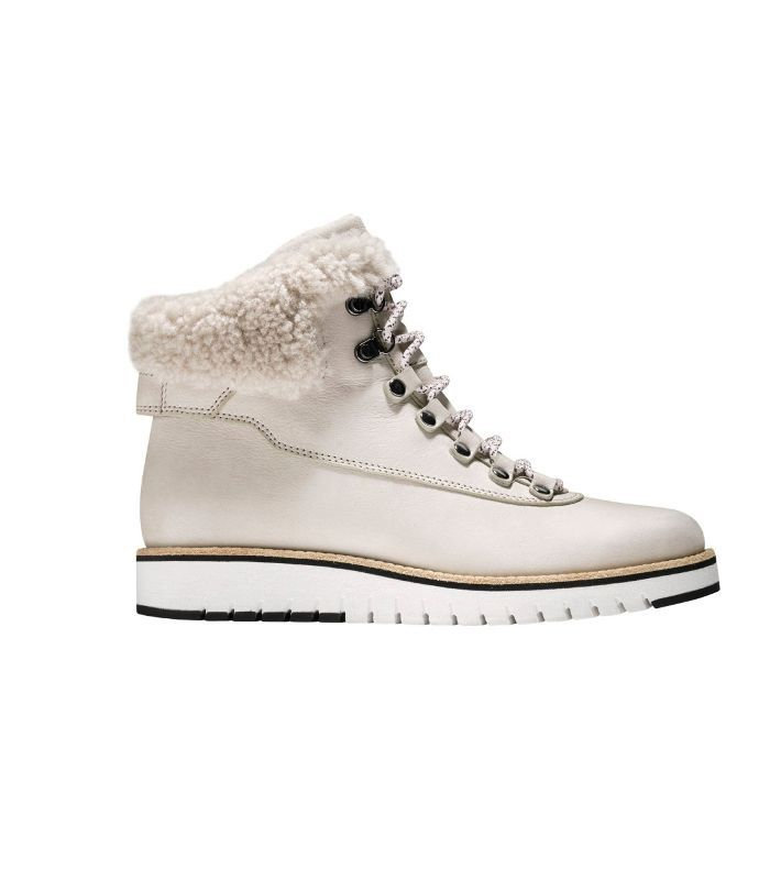 Grandexpl?re Genuine Shearling Trim Waterproof Hiker Boot