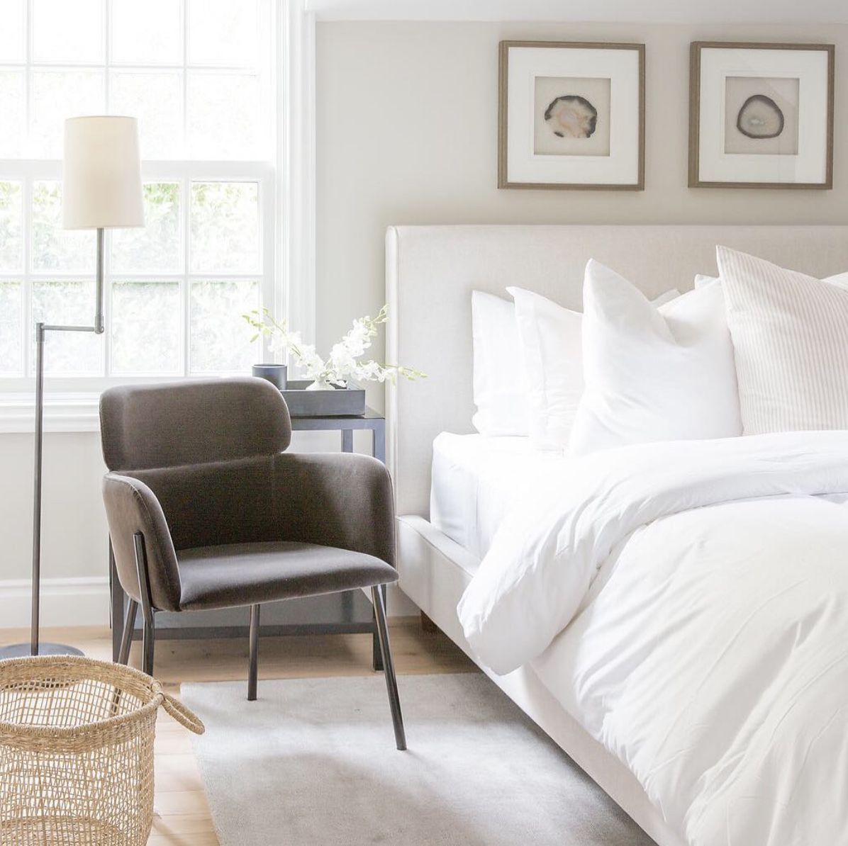 bedroom with plush accent chair