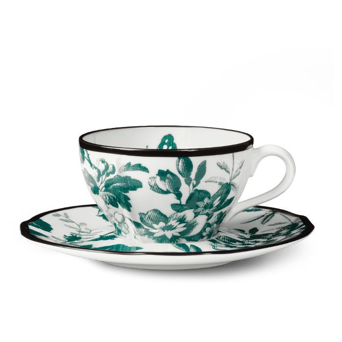 Gucci Herbarium Denitasse Cup and Saucer, Double Set