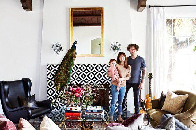 Joe Trohman—eclectic living room