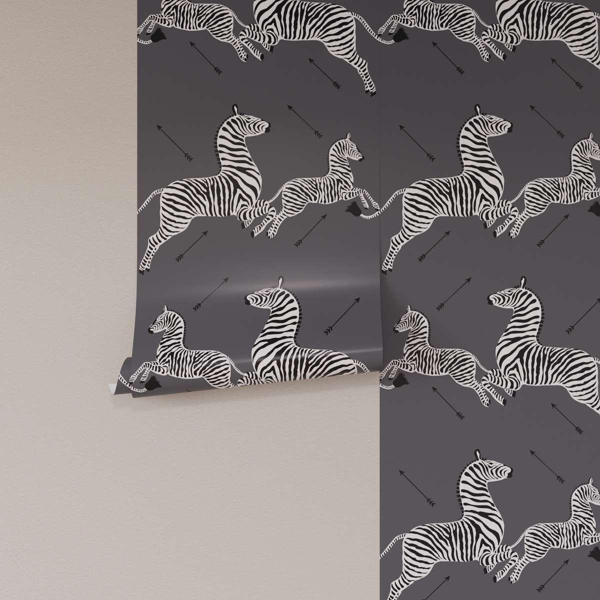 slate zebra wallpaper