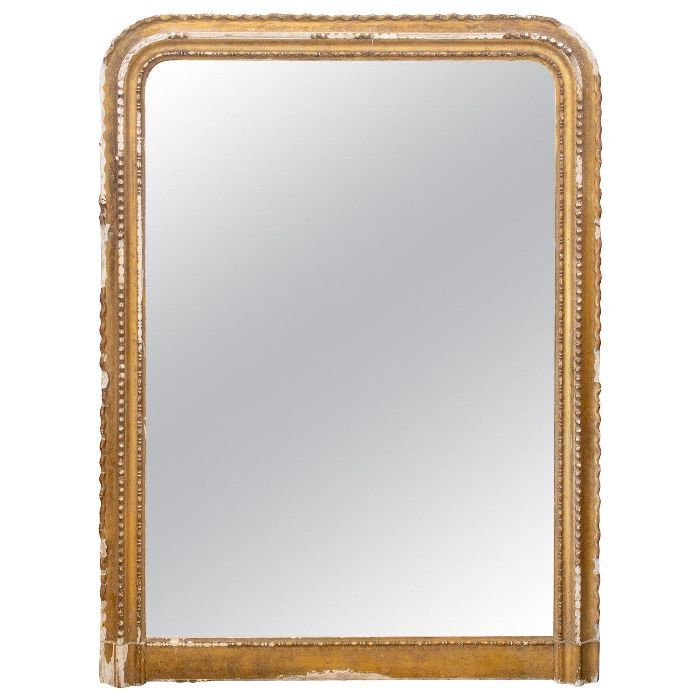 Louis Philippe Antique French Gilt Frame Mirror With Original Glass—Where to Sell Furniture Online