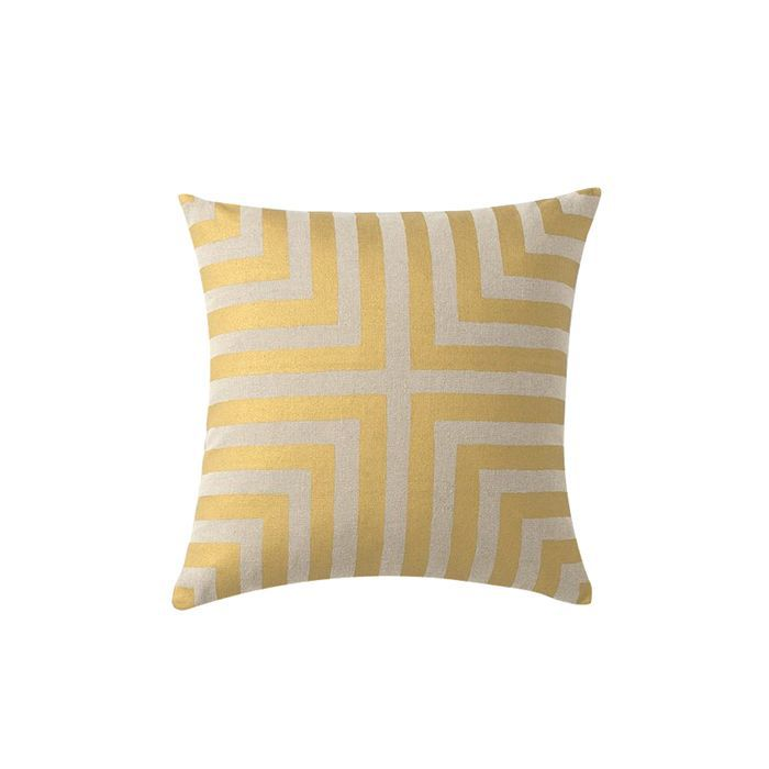 Schoolhouse Electric Modern Matte Gold Throw Pillow