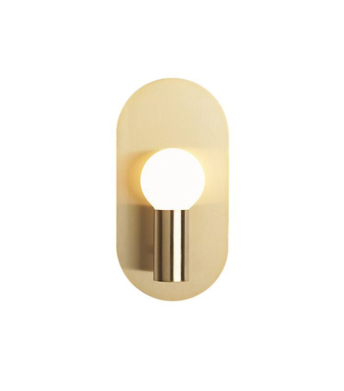 plate brass wall sconce