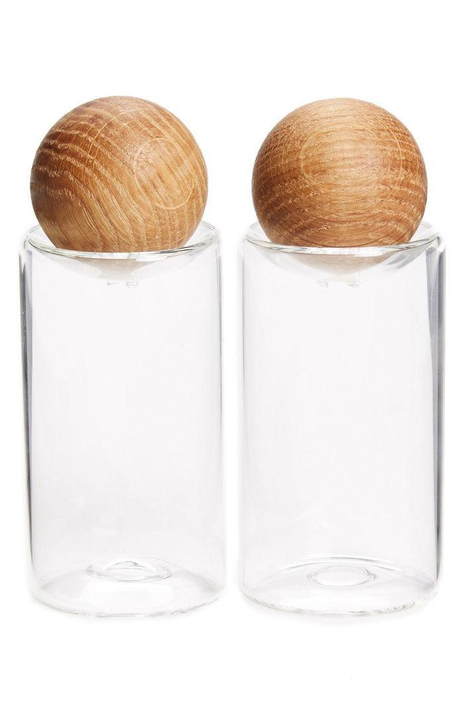 'Oval Oak' Salt & Pepper Shakers