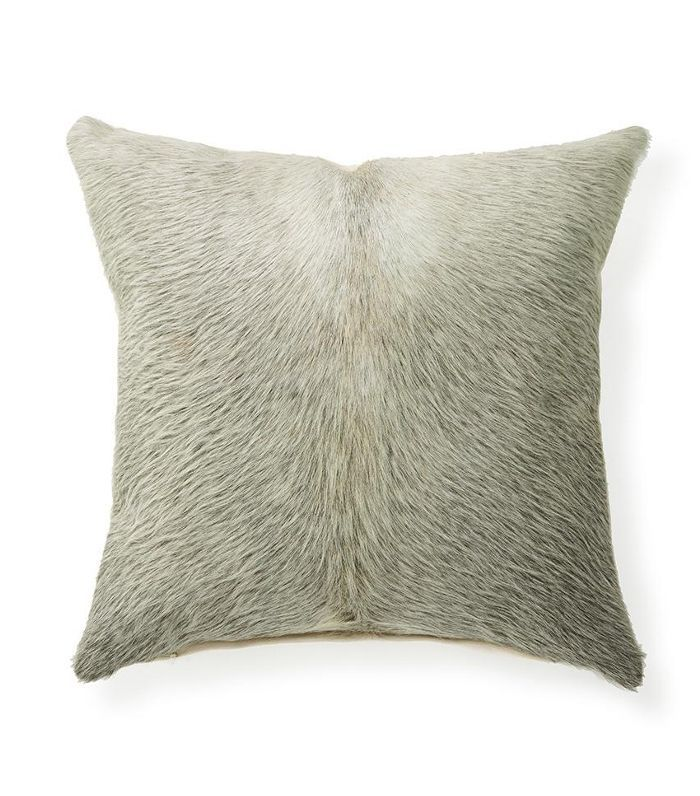 Forsyth x St. Frank Salt and Pepper Cowhide Throw Pillow