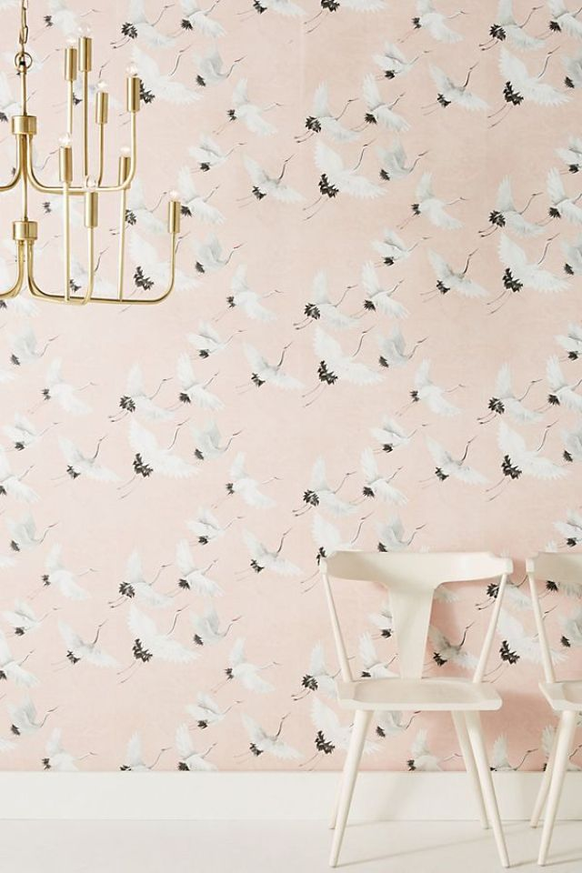 Anthropologie Windsong Crane Wallpaper