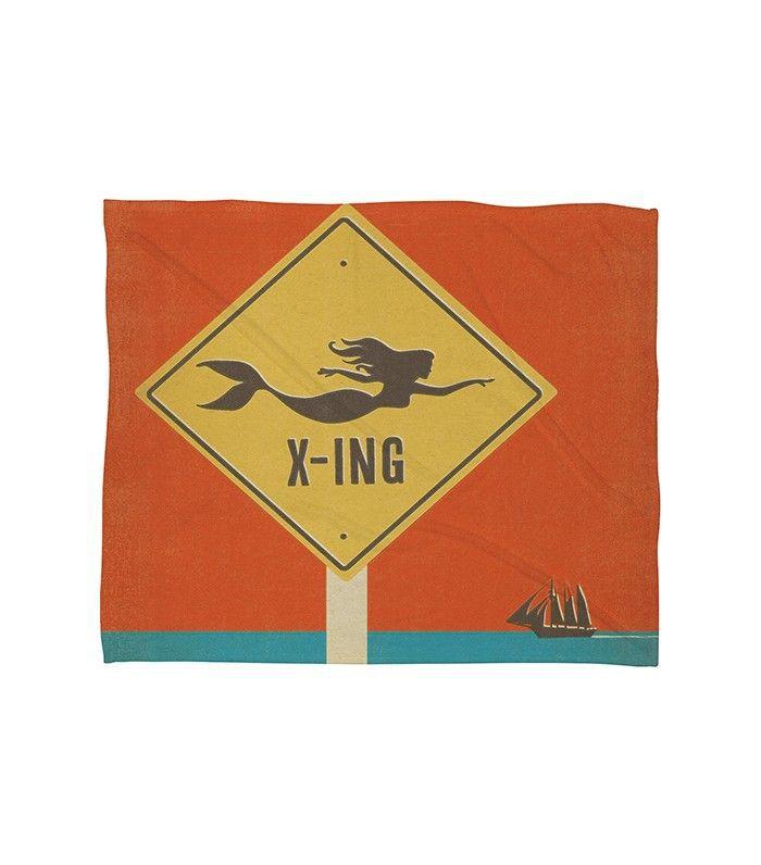 Mermaid X-Ing Throw Blanket