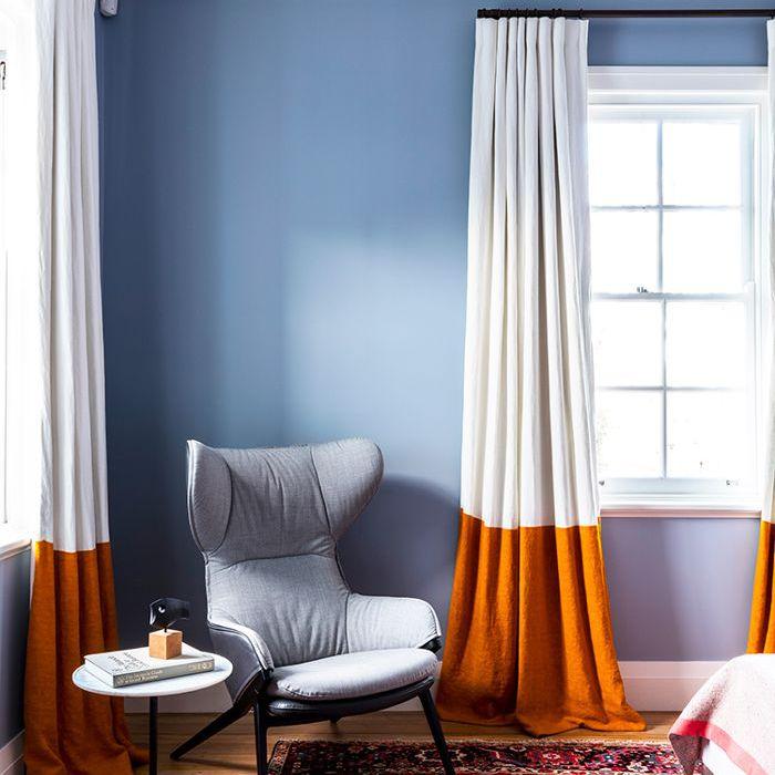 Cortinas de dormitorio con colores bloqueados