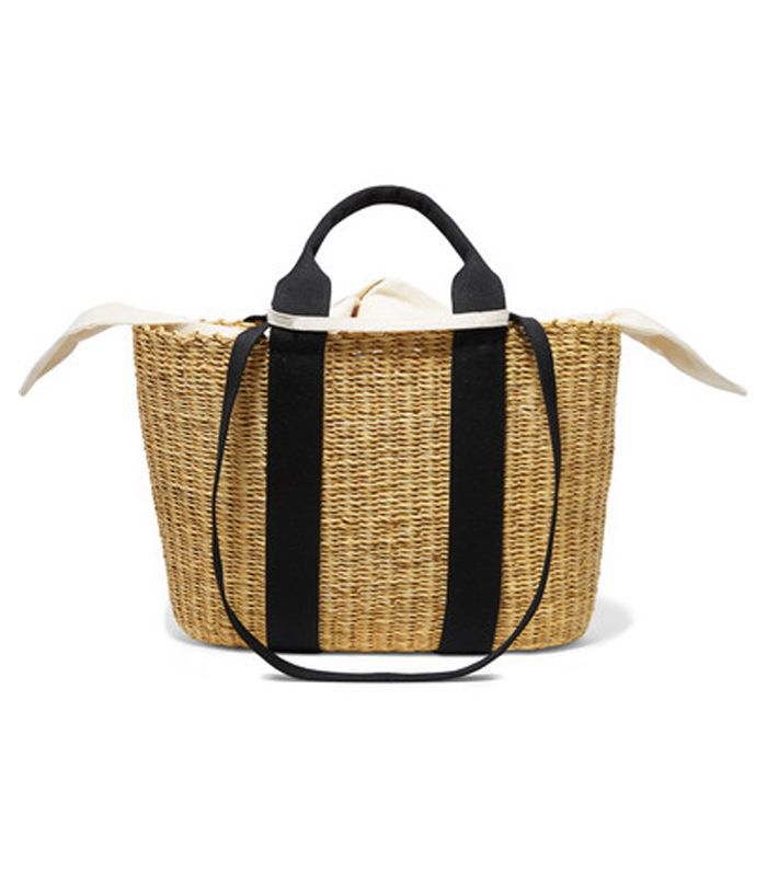Caba Straw And Cotton-canvas Tote