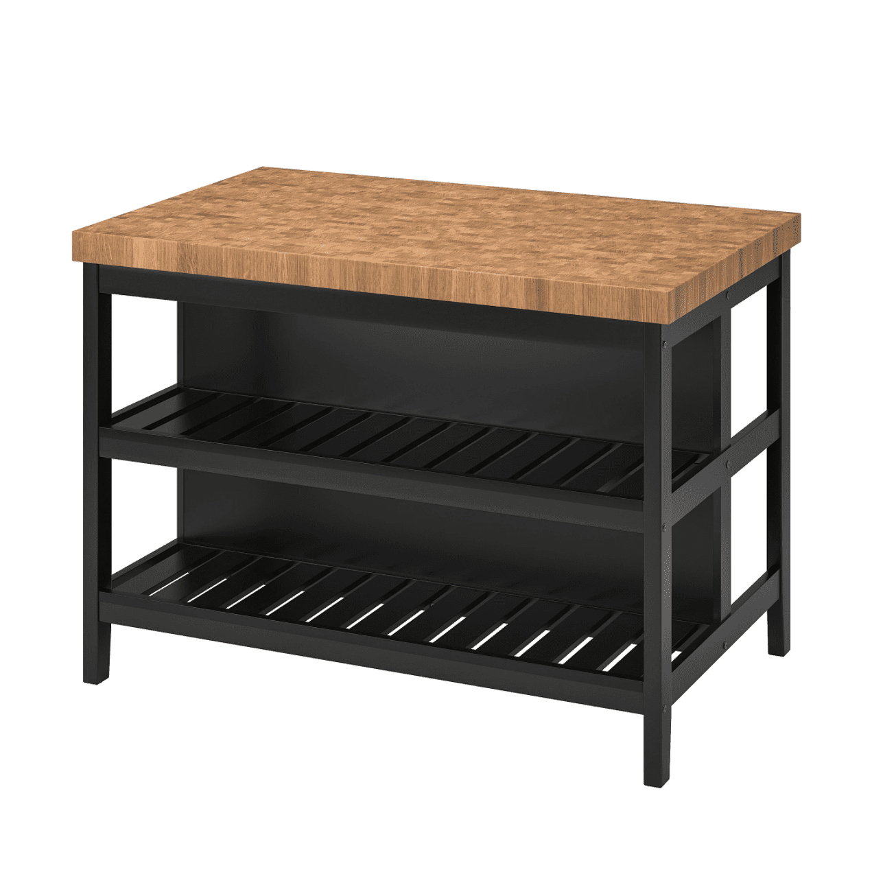 A black kitchen island you can buy at IKEA