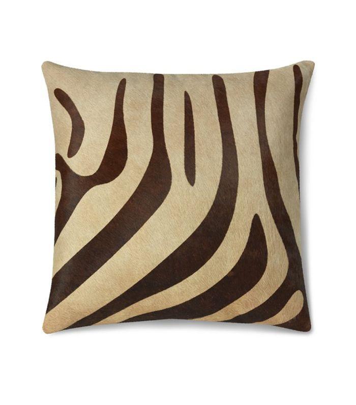 Funda de almohada de piel de cebra impresa