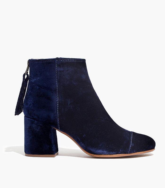 The Jillian Boot in Velvet