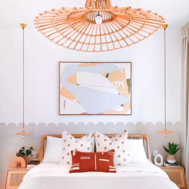 layered bedroom ceiling