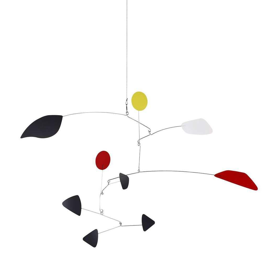 An Alexander Calder-inspired midcentury modern kinetic mobile.