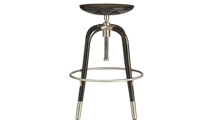 CB2 Foster Black Adjustable Stool
