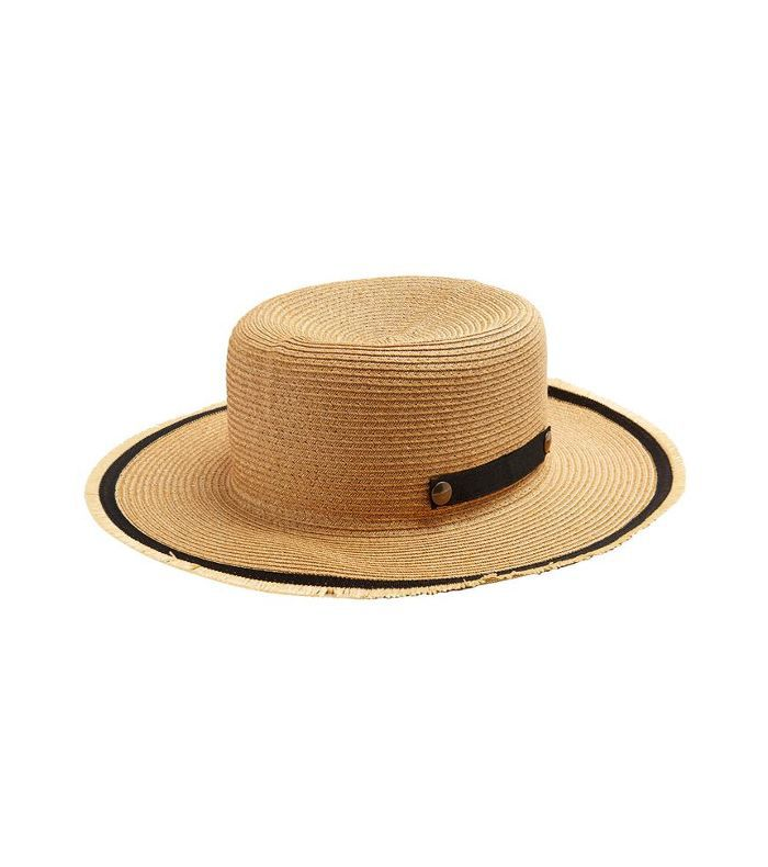 Safari paper-straw hat