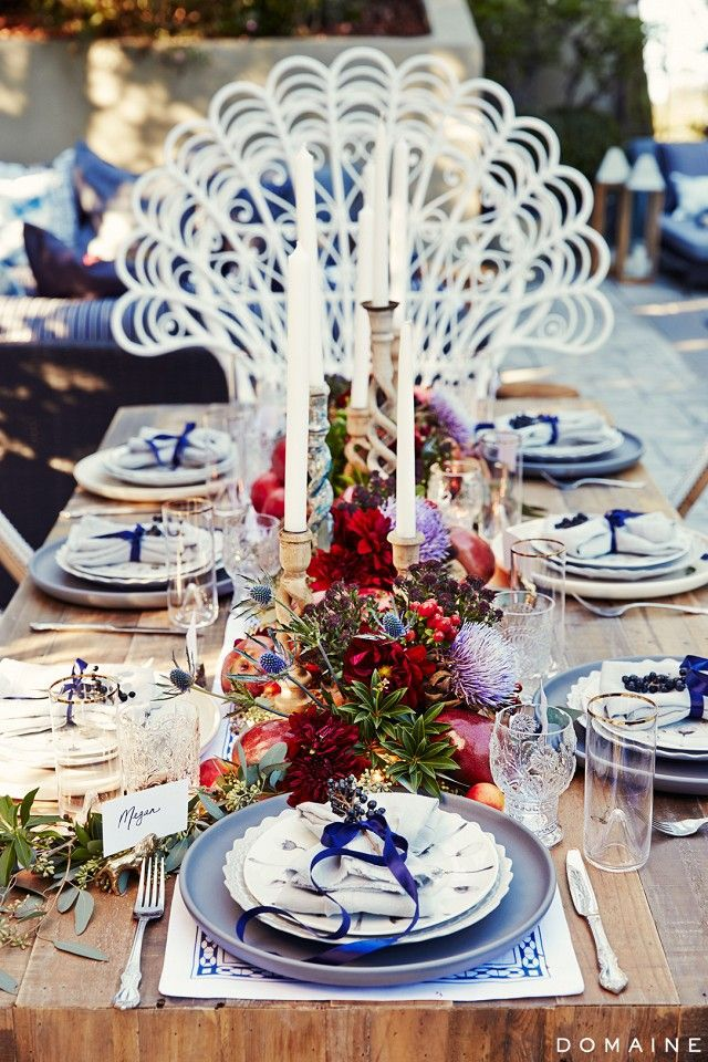 Diana Agron's table setting
