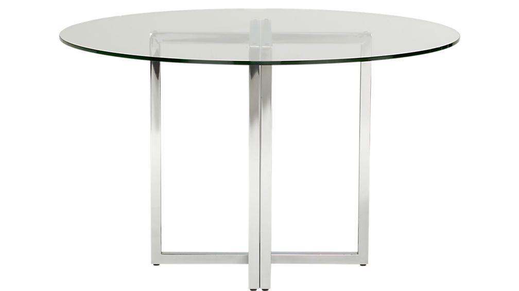 Silverado Chrome Round Dining Table