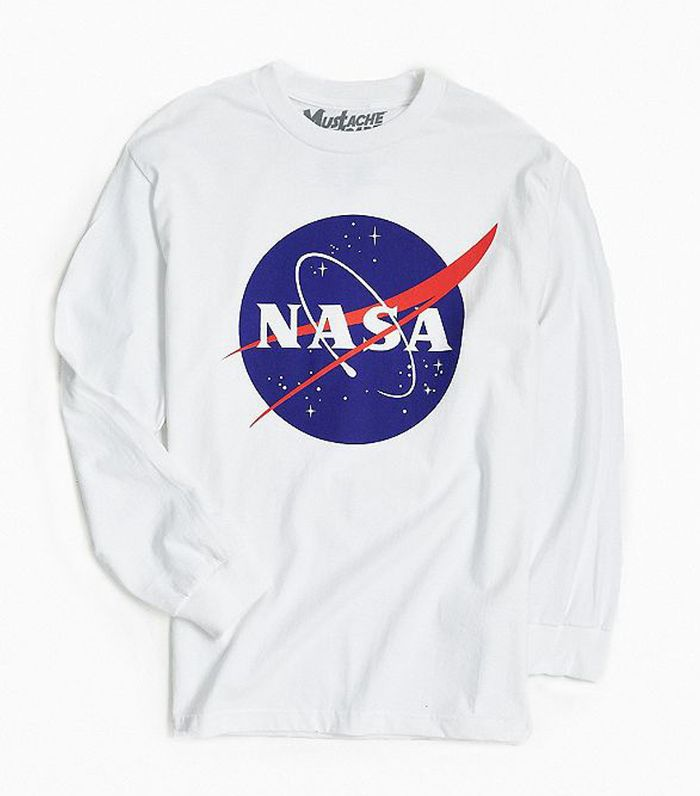 NASA Logo Long Sleeve Tee - Black M at Urban Outfitters