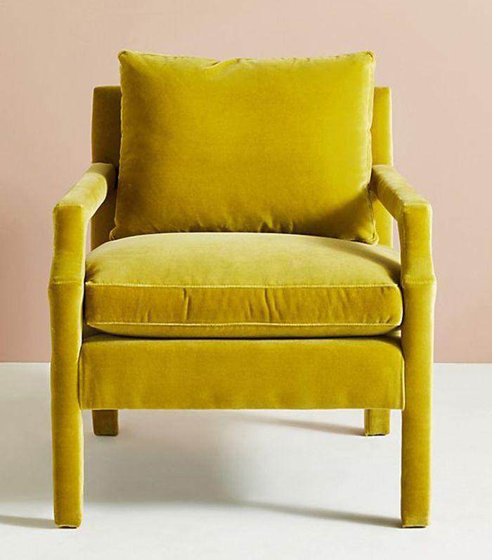 Anthropologie Velvet Delaney Chair