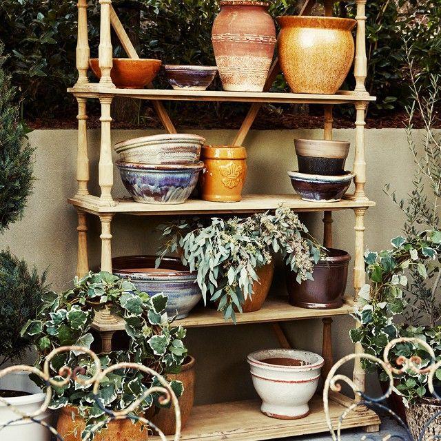 Potting shelves