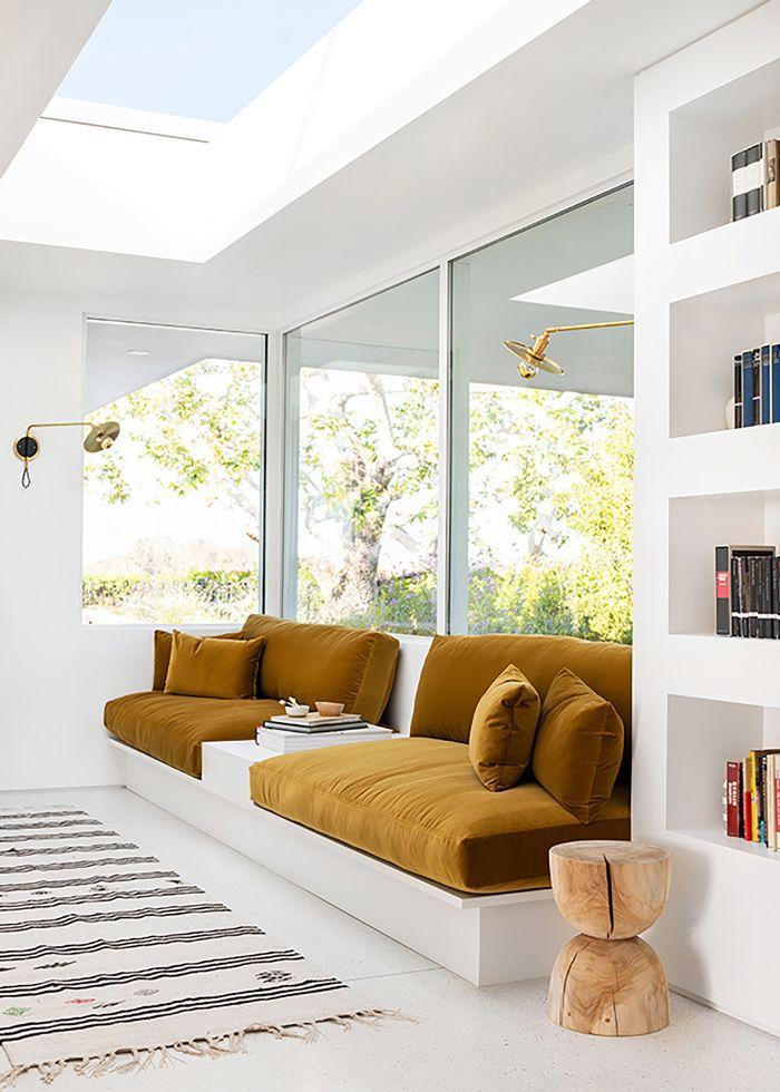 Terrazzo flooring in living room