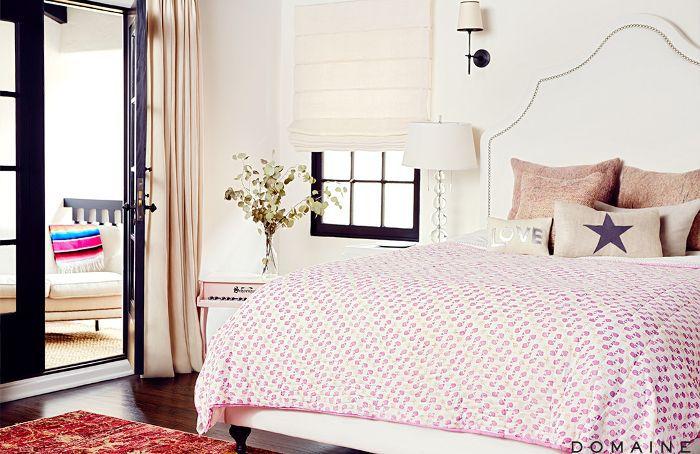 Bedroom in Sasha Alexander's home
