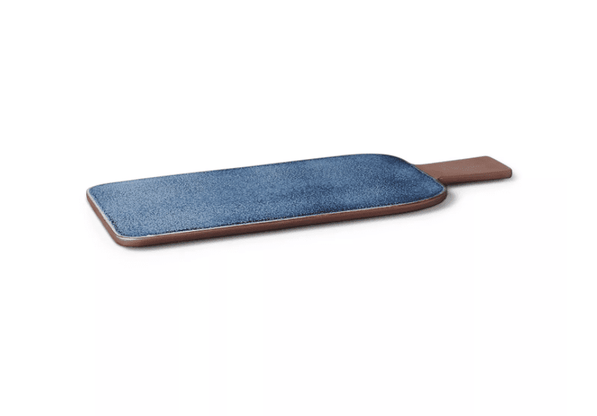 Medium Reactive Glaze Stoneware Serving Board, Blue