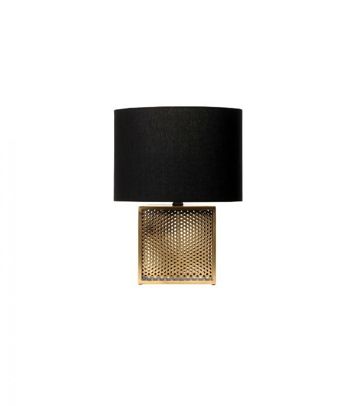 Nate Berkus for Target Perforated Brass Lamp