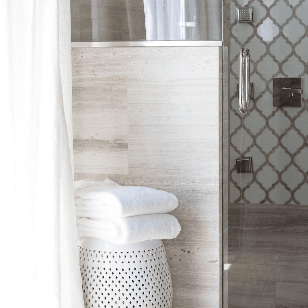 Spanish modern-revival inspired bathroom