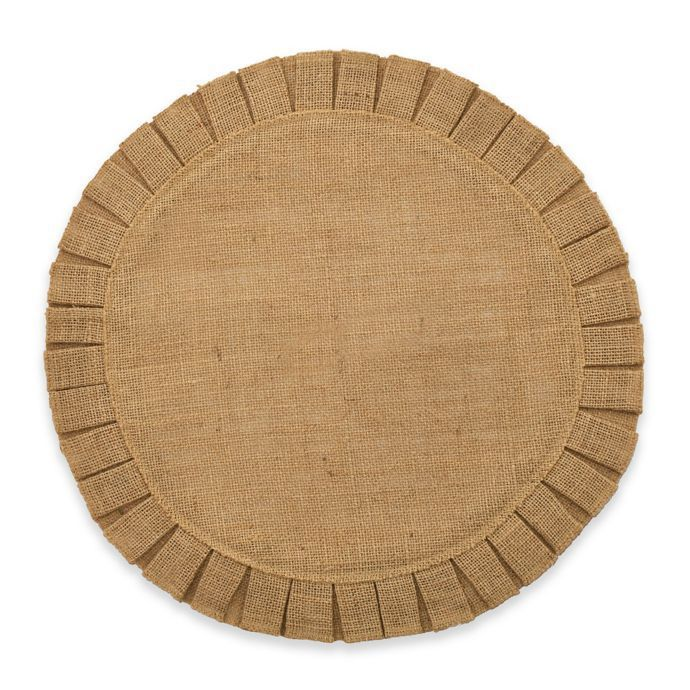 Bee & Willow Home Ruffled Edge Jute Placemat in Natural