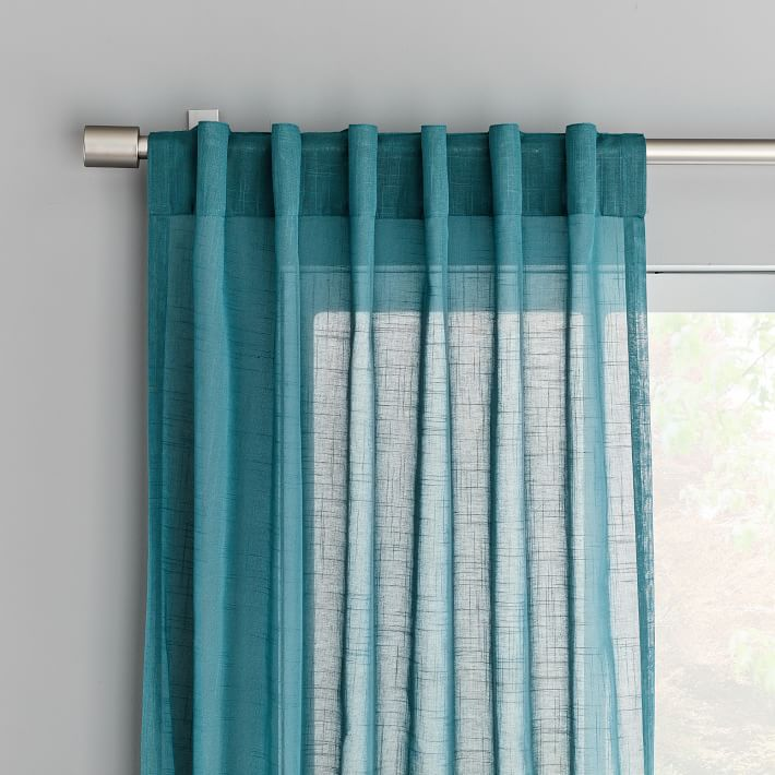 Sheer Crosshatch Curtains