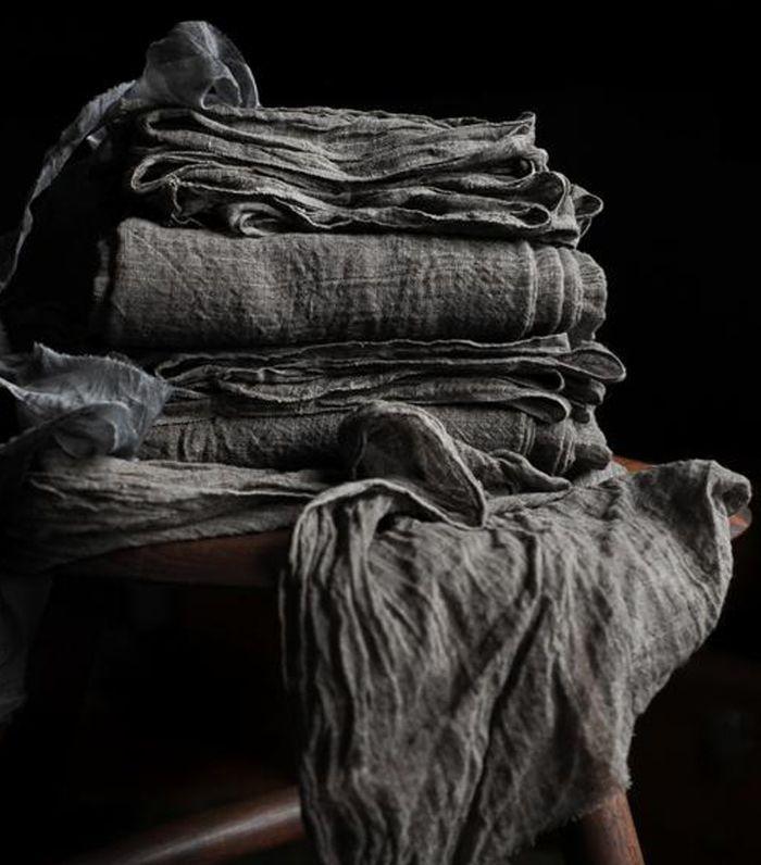 Silk & Willow Camino de mesa de tejido apretado orgánico Handloom