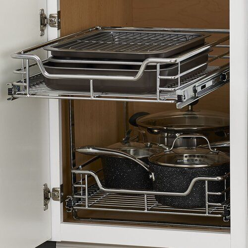 Rebrilliant Dual Slide 2 Tier Under Sink Pull Out Drawer