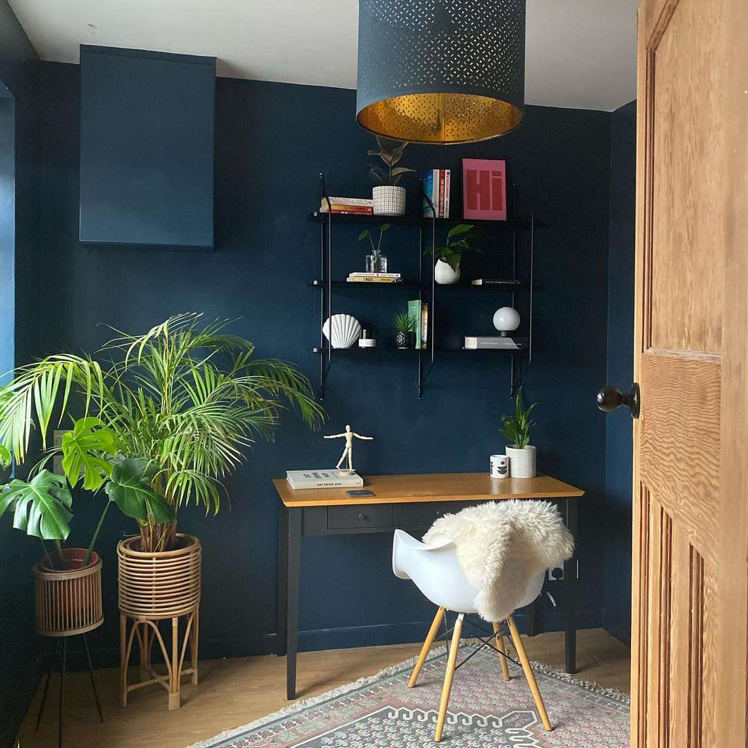 Ikea lamp in an office