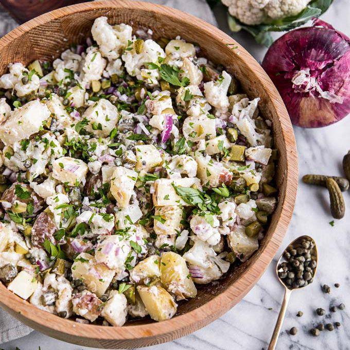 Best Paleo Recipes - Root and Revel, Cauliflower Potato Salad