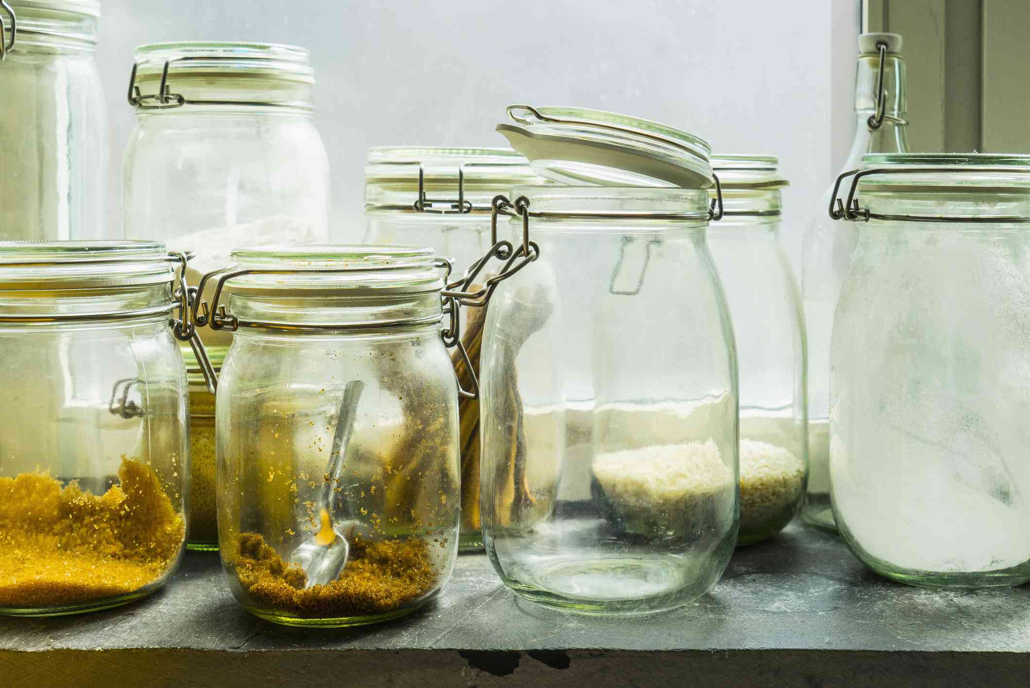Open mason jars