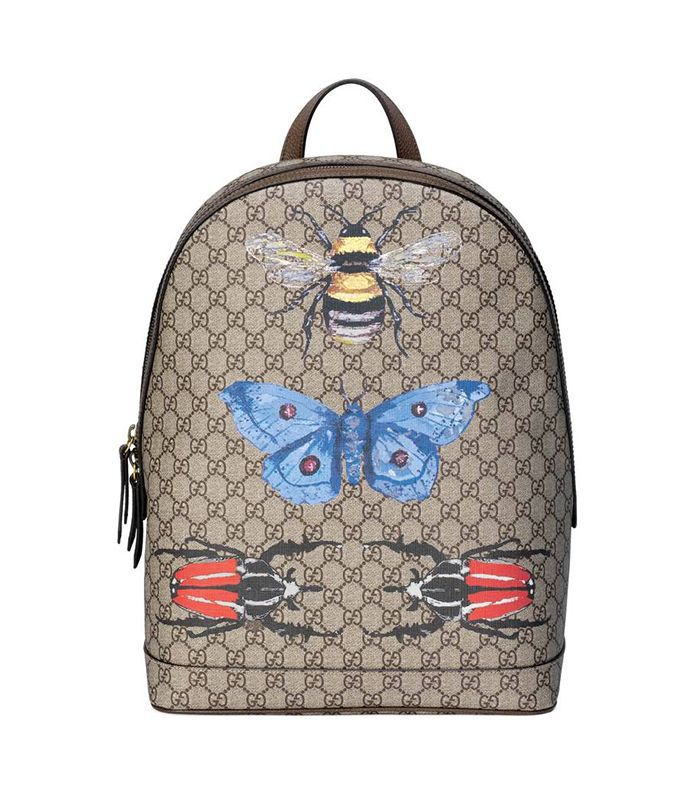 Insect Print Gg Supreme Canvas Backpack -