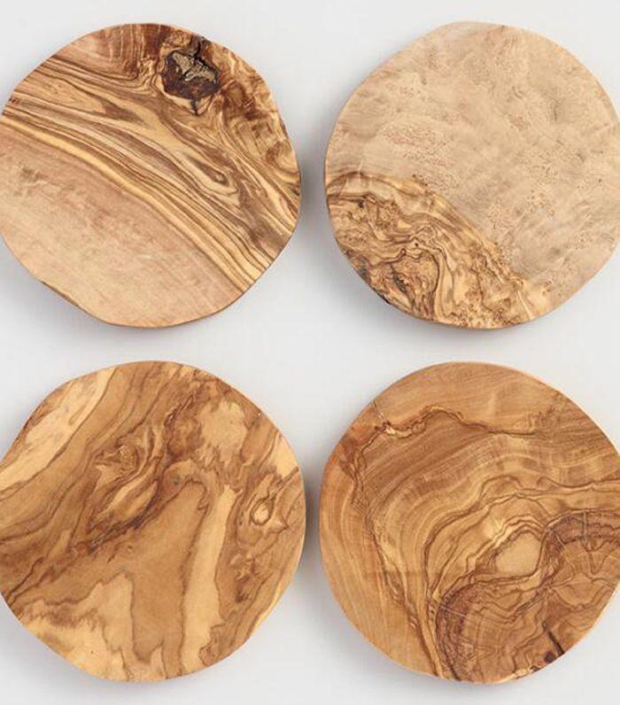Olivewood Coasters Set of 4 by World Market