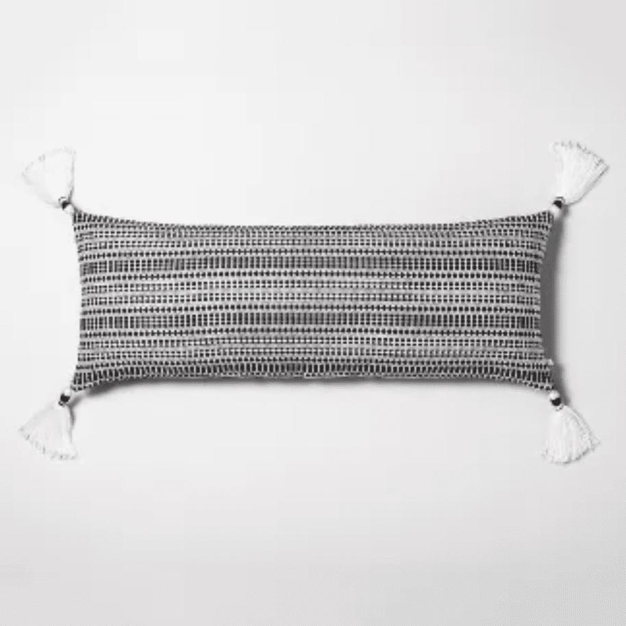 Oversized geo texture lumbar throw pillow
