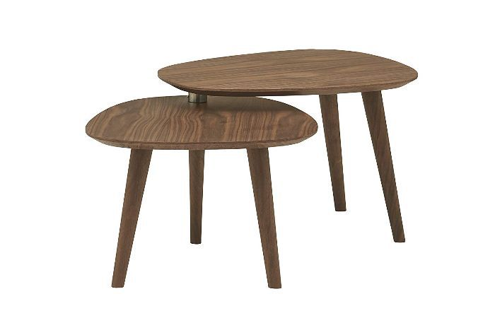 Rivet Allyson Mid-Century Two-Shelf Adjustable Coffee Table