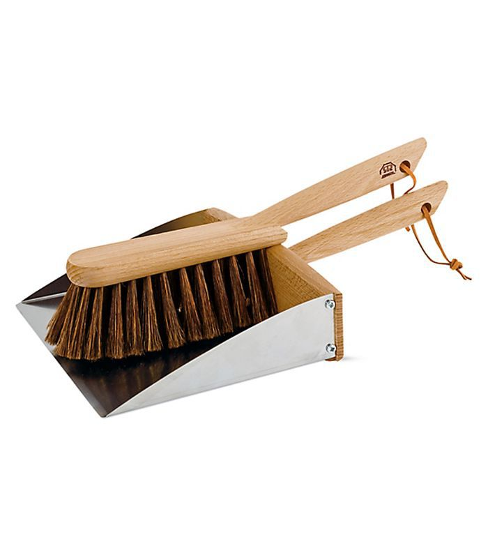 Design Within Reach Magnetic Dustpan and Brush Set, Silver by Design Within Reach