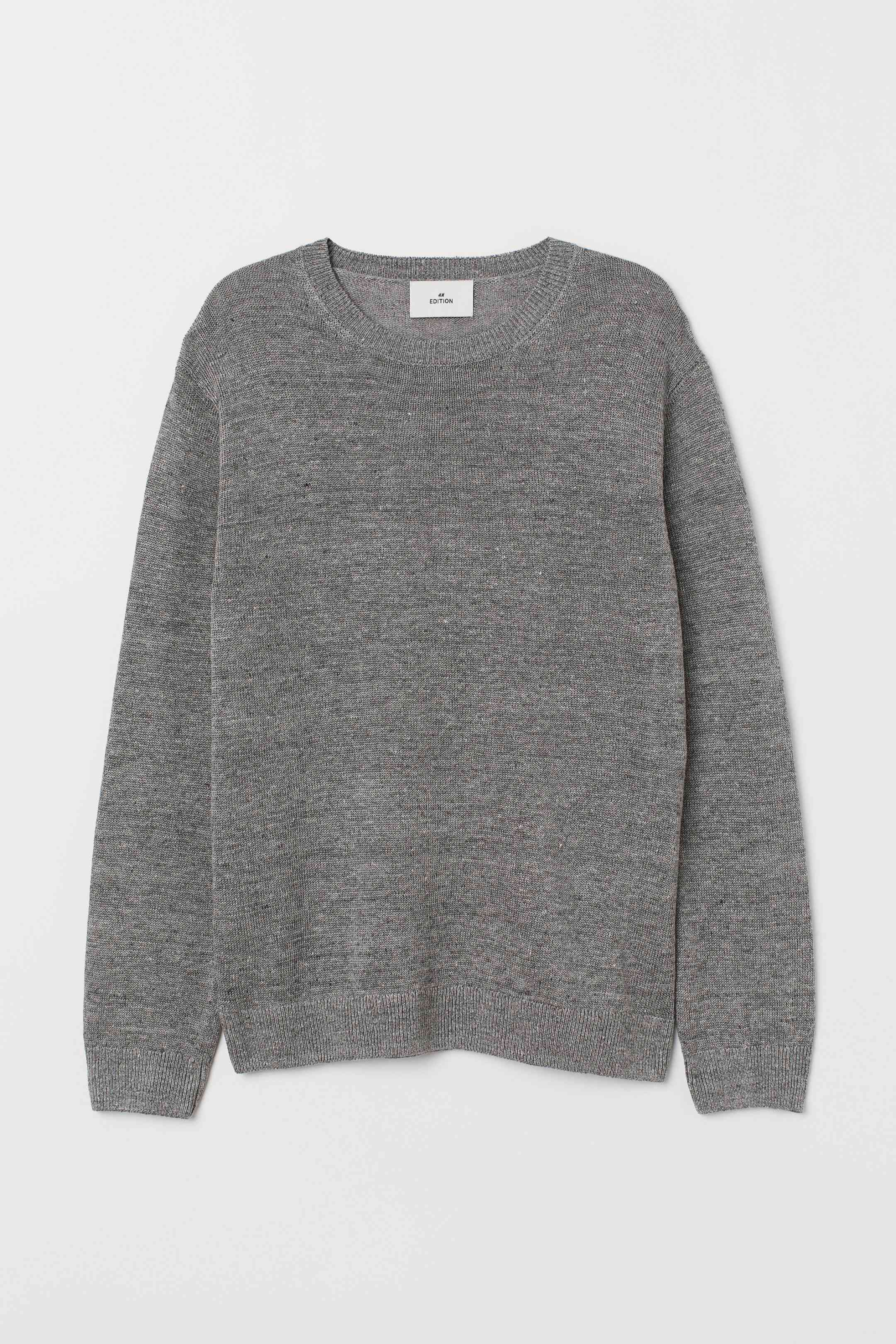 Fine-Knit Linen Sweater
