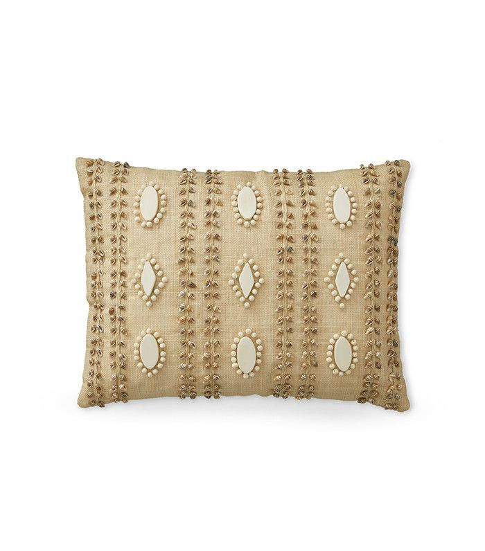 Aerin Lauder for Williams-Sonoma Shell and Raffia Pillow Cover