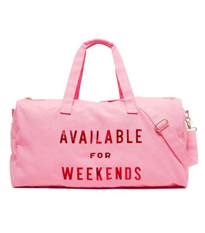 Available for Weekends Getaway Duffel Bag