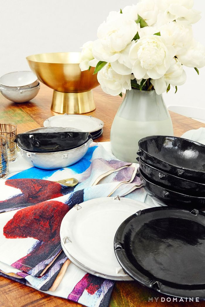 Nina Dobrev L.A. home tour   dinnerware
