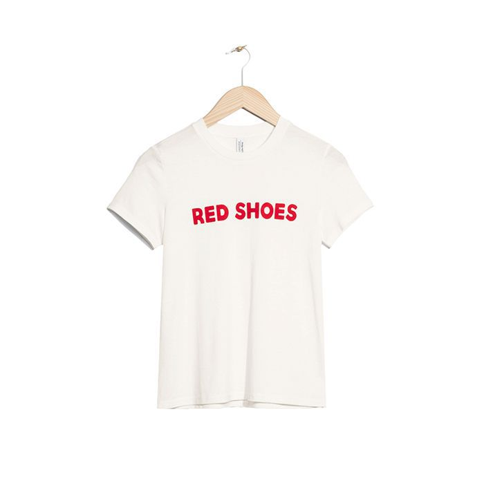 & Other Stories Red Shoes Print T-Shirt